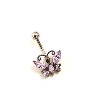 🍒2/20$ Butterfly Navel Belly Piercing Jewelry NEW